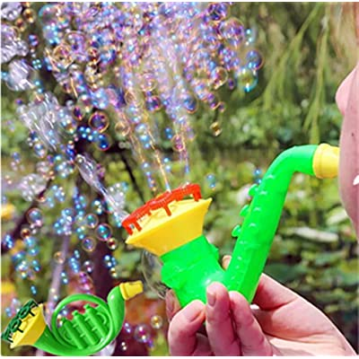 Midress Bubble Gun Water Blowing Toys Light-Up Bubble Blaster Wand for Kids Soap Bubble Blower Funny Toys Great Outdoor Summer Game (Random): Sports & Outdoors