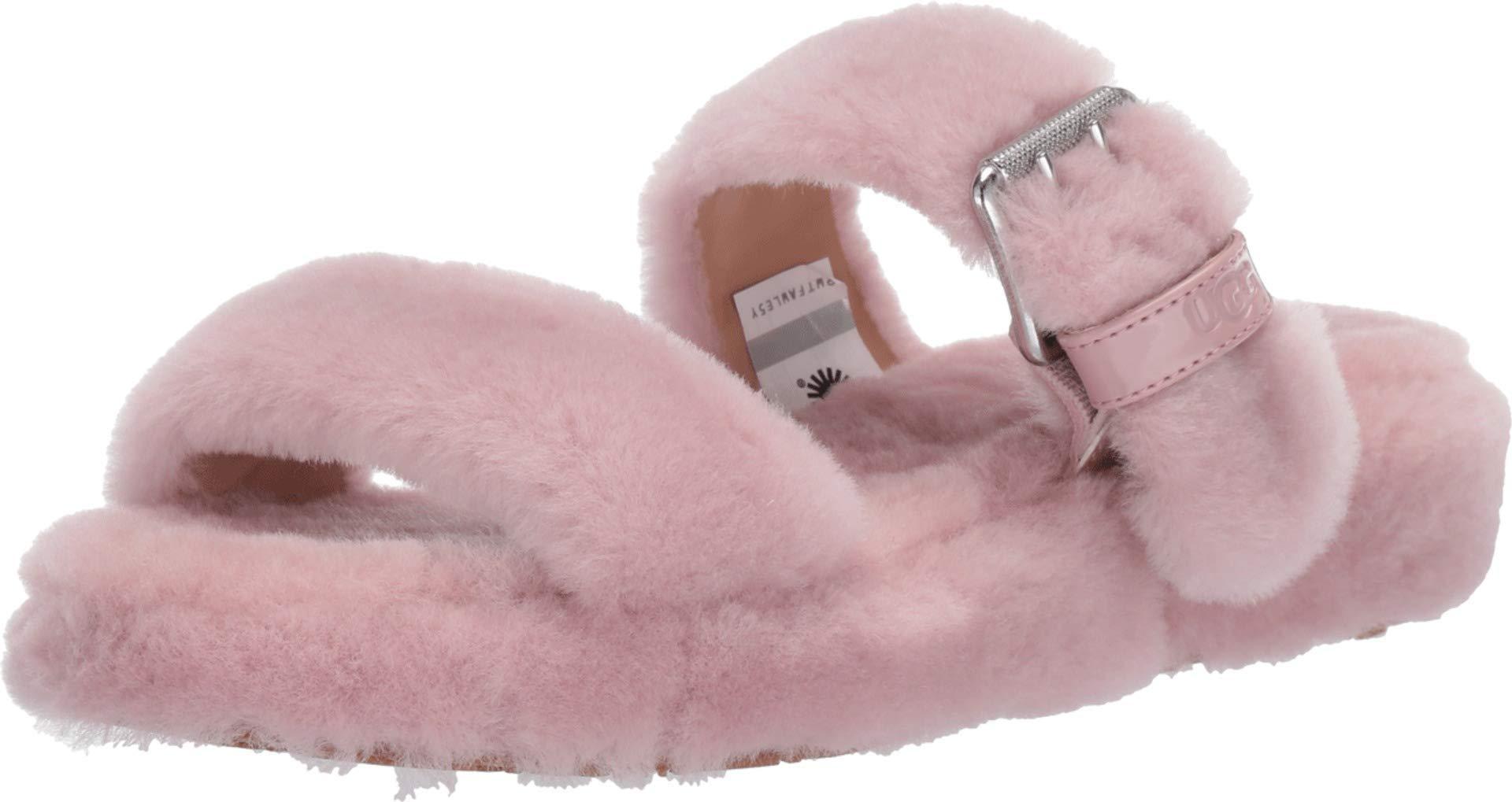 ویکالا · خرید  اصل اورجینال · خرید از آمازون · UGG Women's Fuzz Yeah Wedge Sandal, Pink Crystal, 7 M US wekala · ویکالا