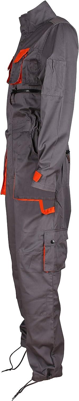 Stenso Desman/® Mens Work Coveralls Overalls with Multi Pockets Grey//Orange