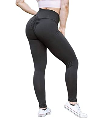 4c938d4304 KIWI RATA Women Scrunch Butt Yoga Pants Leggings High Waist Waistband Workout  Sport Fitness Gym Tights Push Up at Amazon Women's Clothing store: