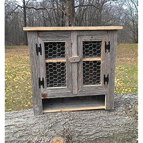 Amish Country Collectible Handmade Primitive Rustic Decor Barn Wood Medicine  Cabinet