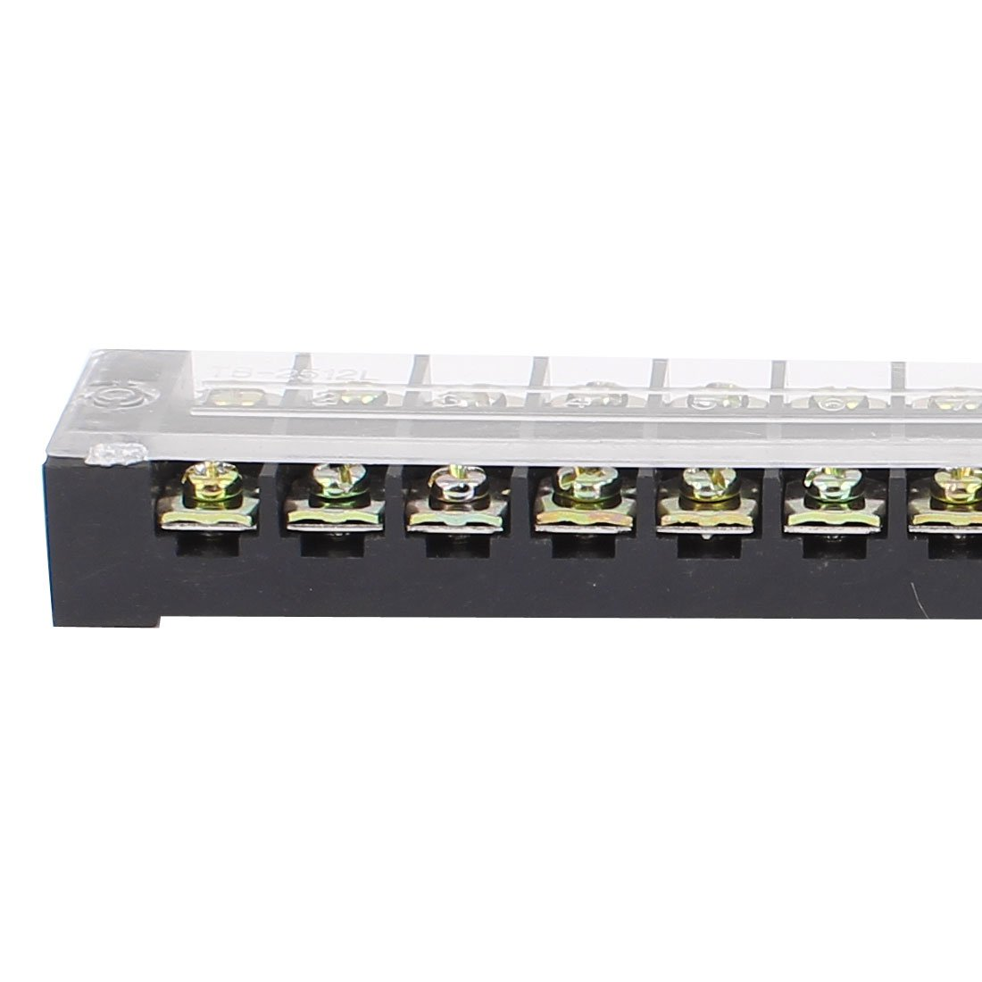 uxcell 2Pcs 600V 25A Dual Row 12 Position Covered Screw Terminal Block TB2512 a16010500ux1494