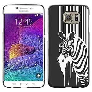 EJOY---Cubierta de la caja de protección la piel dura para el / Samsung Galaxy S6 / --B & W Zebra