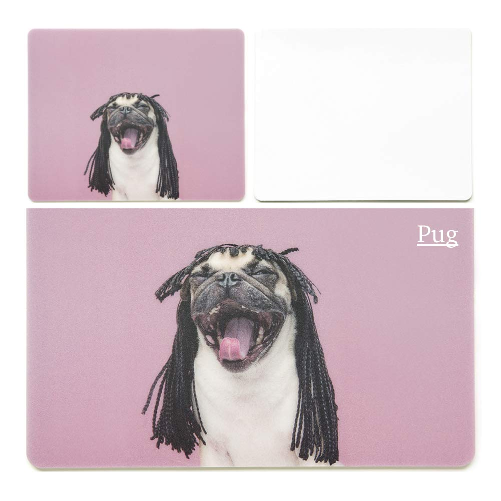 8.6 x 7 inches Colorful Cute Dog Mouse Pads Navy