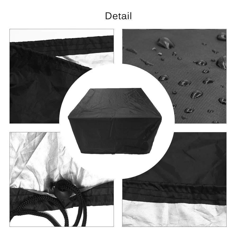 137,6 x 139,7 x 73,8 cm Boerni Housse de Table de Jardin r/ésistante aux d/échirures pour ext/érieur Housse de canap/é imperm/éable en Tissu Oxford Respirant