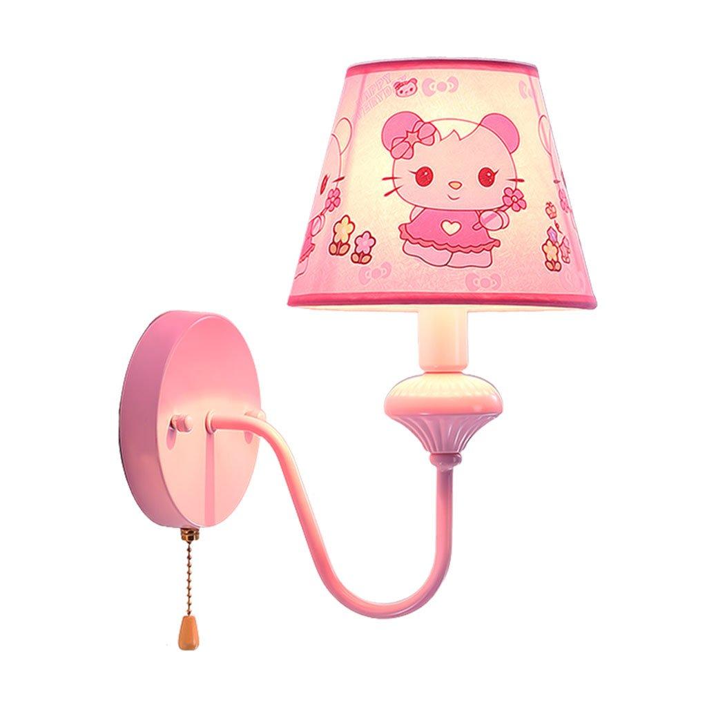 Unbekannt QIQIDEDIAN Prinzessin Hochzeit Zimmer Wandleuchte Kinderzimmer Stoff Schlafzimmer Mädchen Lampe