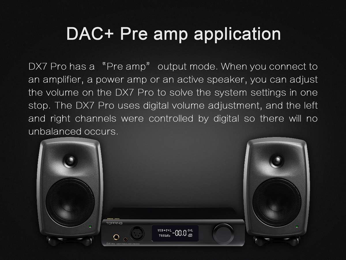 Topping Dx7 Pro Es9038pro Dac Bluetooth 5 0 32 Bit 768 Khz Dsd1024 Ldac Hi Res Decoder Hoofdtelefoonversterker Zwart Amazon Nl