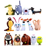 14 Pcs Carton Puppy Pets Movie Toy Figures Collection Gift Animal Cupake Toppers Party Supplies Birthday