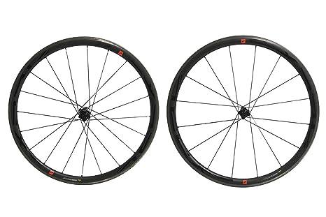 Massi Ruedas para Bicicleta en Carbono X-Pro 35, Unisex Adulto, Negro,