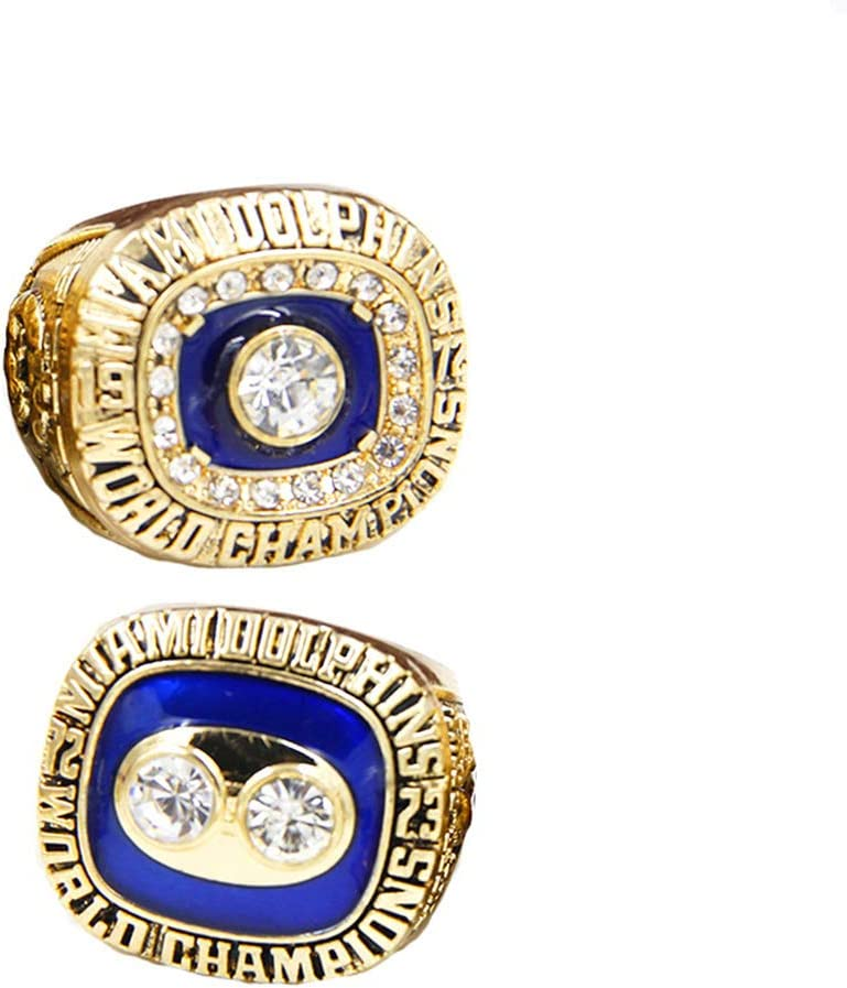 Gloral HIF 1972 1973 Miami Dolphins Championship Rings Set Football Super Bowl Championship Rings Size 11