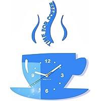 FLEXISTYLE Moderno Reloj de Pared de Cocina Taza