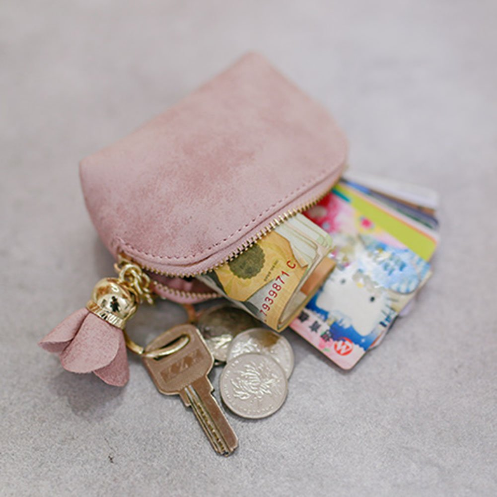d038dbf12b3d ACTLATI Mini Elegant Coin Case Fashion PU Flower Women Billfold ...
