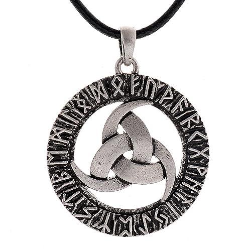 Qianji triple horn of odin pendant necklace vintage triple horn of qianji triple horn of odin pendant necklace vintage triple horn of odin rune amulet necklace aloadofball Gallery