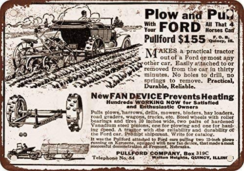 New Tin Sign Aluminum Retro 1918 pullford;n de conversión de automóvil para Farm Tractor Metal Sign 8 X 12 Inch