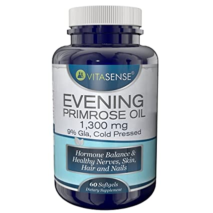 VitaSense - Aceite de Onagra 1300 mg, 9% GLA - Equilibrio Hormonal ...