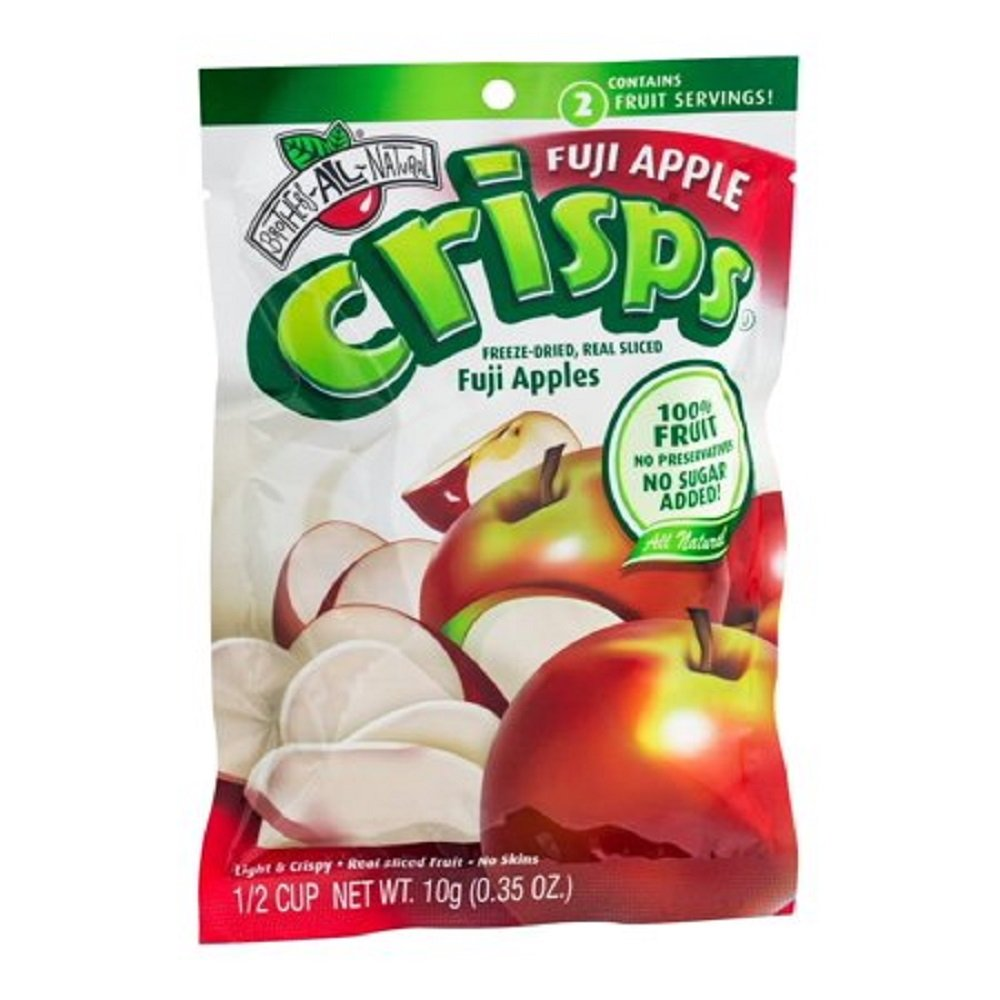 Freeze Fuji Apple Crisps 0.35 Ounce Resealable Bags Inner Pack of 12