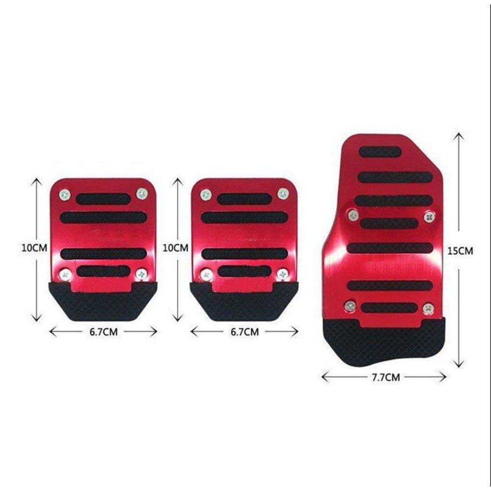 Rot Dayiss/® 3Pcs Auto rutschfest Pedal Schaltgetriebe Pedalhaken Pedalabdeckung Bremsen in 3 Farbe
