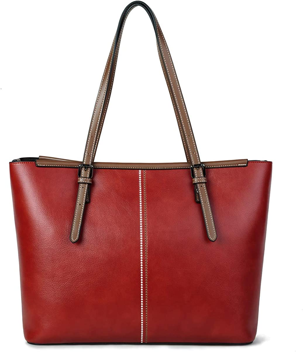 lady leather laptop tote bag office handbag women fashion briefcase 15.6-inch computer work bag