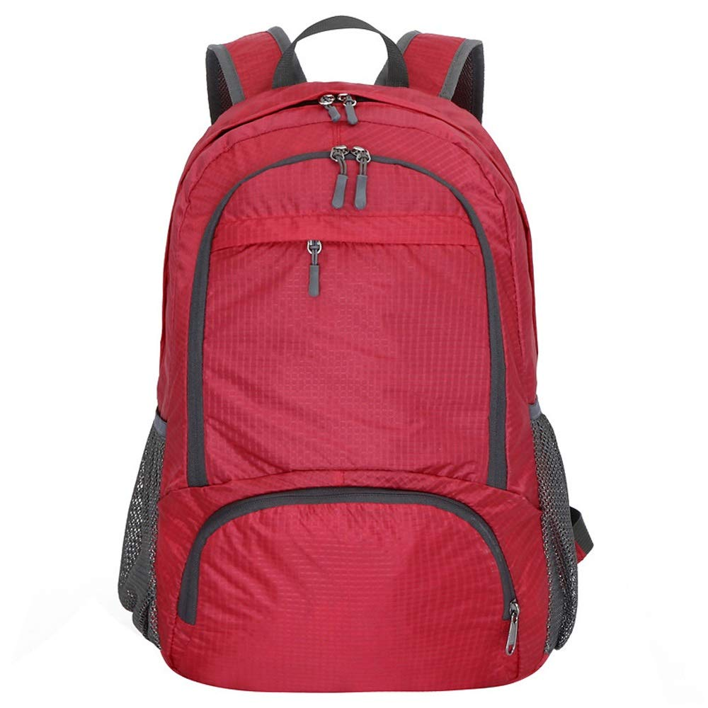 Red 18.5136.3inch Folding Backpack Packable Handy Lightweight Rucksack for Sport Travel Camping Hiking Backpack Riding Waterproof Foldable Daypack for Men Women 25L LCNINGBB