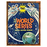 Wood-Framed Out of This World Series 1965 Metal Sign, Baseball, Twins, Dodgers, Space Theme, Retro Sign on reclaimed, rustic wood