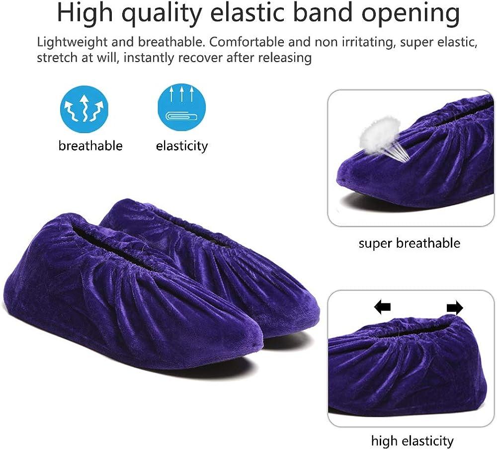 SONSYON Schuh/überzieher Mehrweg 10 Paar Flanell /Überschuhe Waschbar Stiefel /Überzieher Anti-Rutsch Schuh/überzieher Schuhe Abdeckung f/ür Kinder Erwachsener