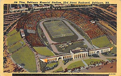 Air View Baltimore Memorial Stadium Maryland MD USA Old Vintage Football