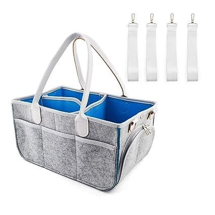 Organizador de pañales para bebé, bolsa de pañales, caja de almacenamiento extraíble, caja