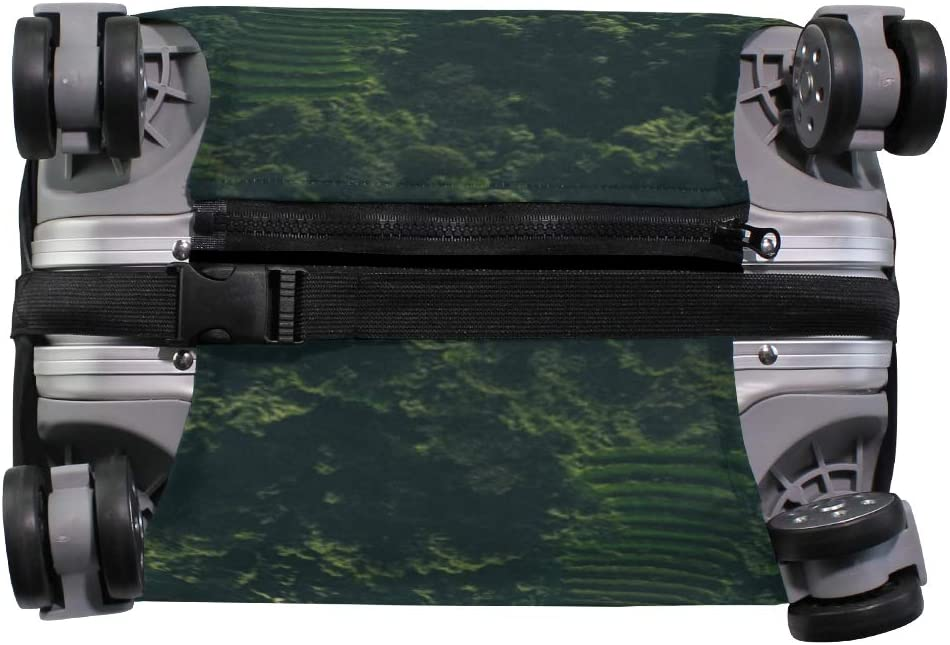 Landscape Aerial View Forest Farm Trees Elastic Suitcase Protector Travel Fits 26-28 Inch Zip Luggage Cover
