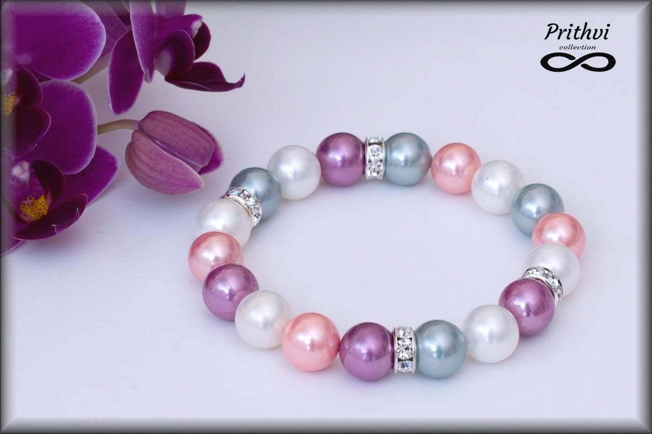 Elegante pulsera para mujer - Perlas de río (10mm)