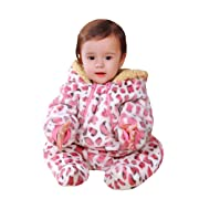 Luckyauction Baby Boys Girls Flannel Bunting Outfits Warm Snow Pram Suit Romper Outwear