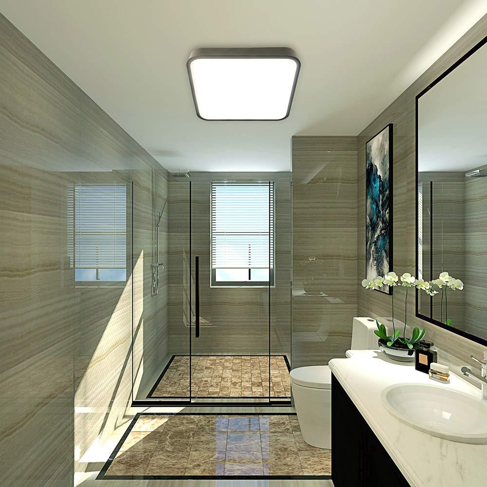 Deckenleuchte LED Deckenlampe bedee Wasserdicht Lampe 4000K LED Panel Deckenlampe Leuchte Quadratische Dünne Badezimmer Küche Schlafzimmer Bad Wohnzimmer Esszimmer Balkon Flur