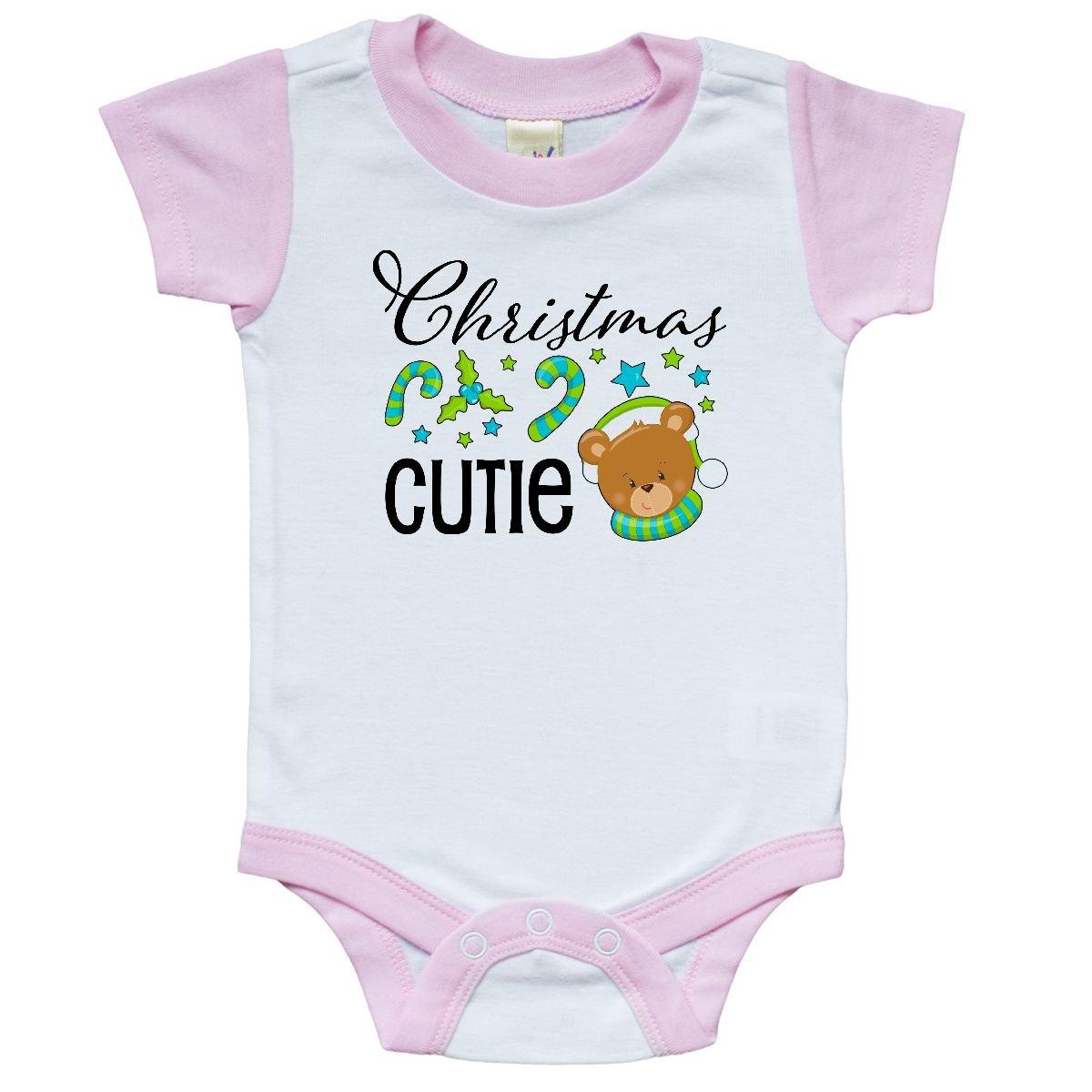 Amazon.com: inktastic - Christmas Cutie Teddy Infant Creeper 24 ...