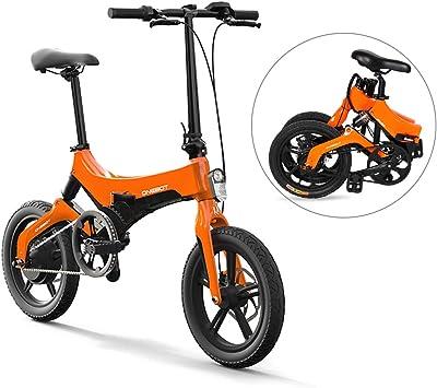 Lixada Bicicleta Eléctrica Plegable de 16 Pulgadas Power Assist ...