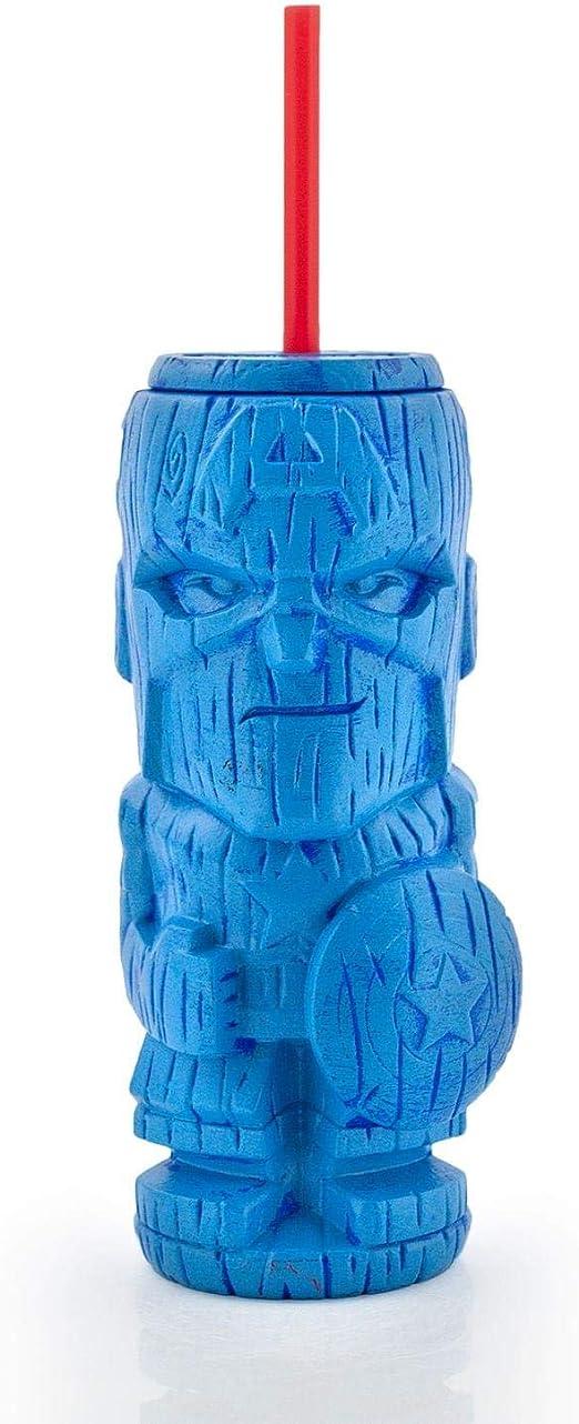 Geeki Tikis Marvel Iron Man Tumbler Tiki Style Plastic Cup Holds 22 Ounces