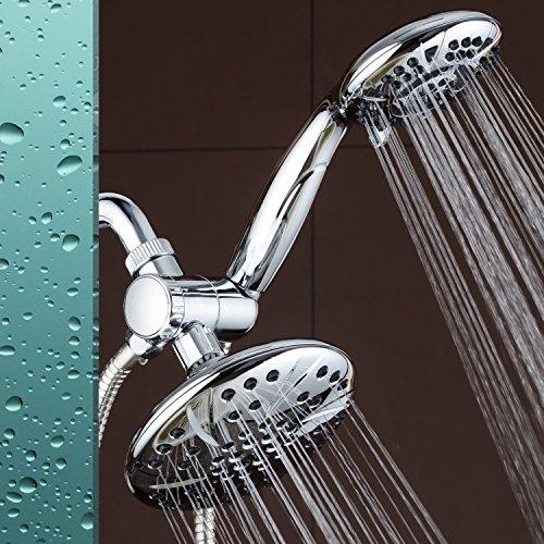 AquaDance 6 Premium High Pressure 3 Way Rainfall Shower Combo Combines