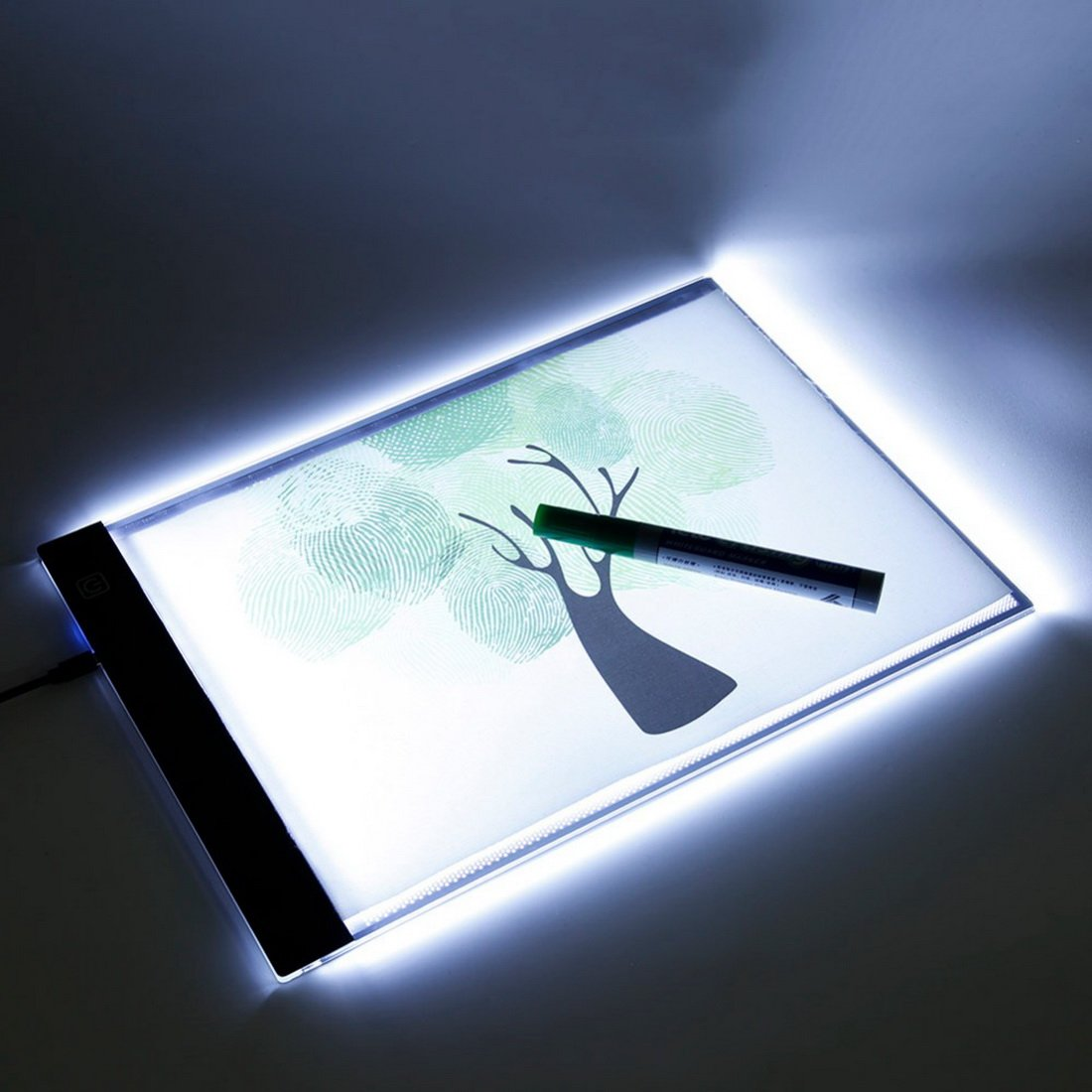 Led Light Box Art Tracer A4 Three-Level Dimming - Writing Painting Light Box Tracing Board - Copy Pads Drawing Tablet Artcraft Lighted Porta Trace Table (Horizontal) by Mega Shop
