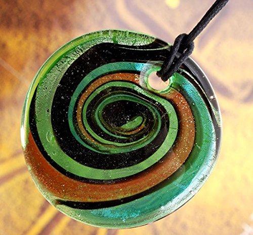 Ecloud Shop 5 Colors Lampwork Glass Pendant Necklace Foil FASHION