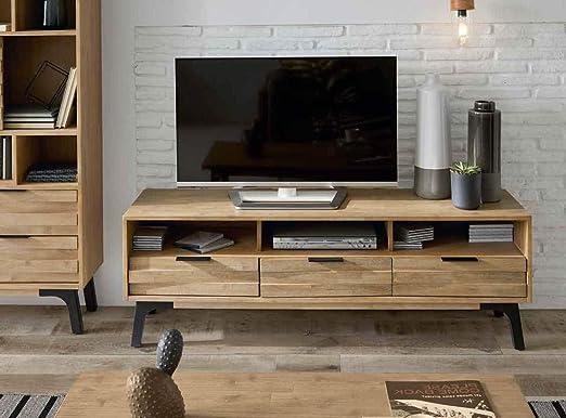 PEÑA VARGAS - Home & Living - Mueble TV Moderno - Mueble Roterdam 3 Cajones (165x45x55): Amazon.es: Hogar