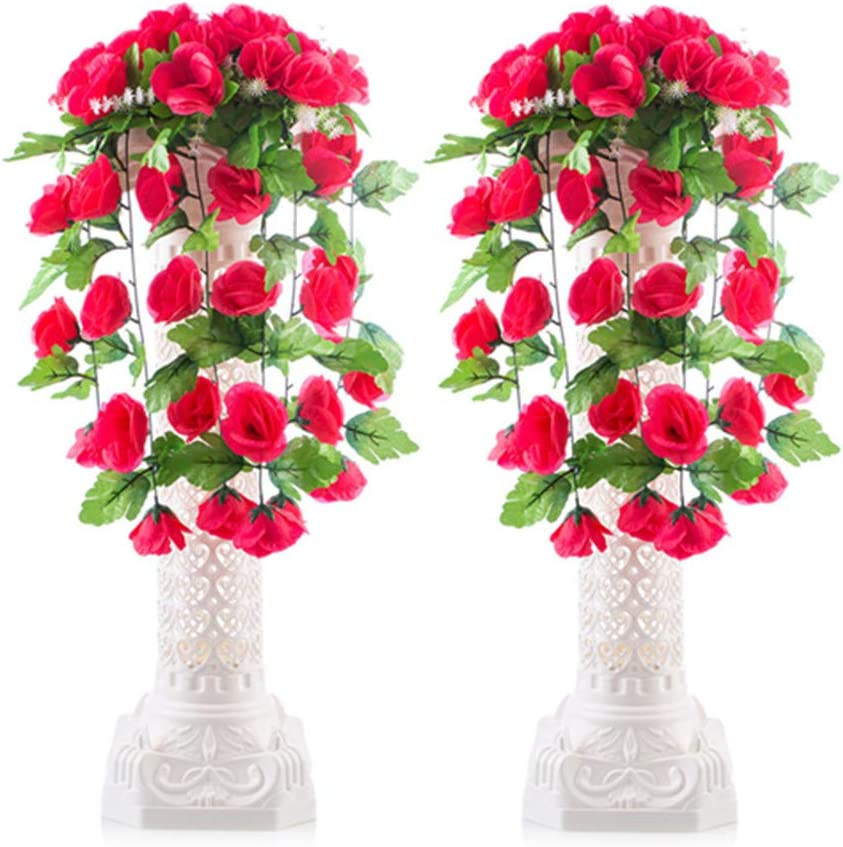 2 Roman Pillars Wedding Column Pedestal Celebration Background Flower Stand Deco