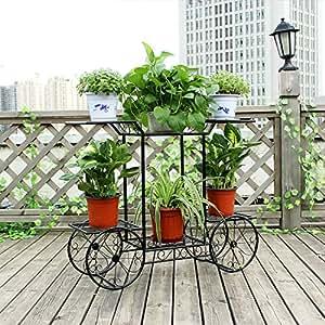 European style multi-layer iron flower shelf creative simple flower rack flower pot rack-B