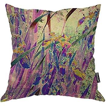Amazon Com Moslion Floral Pillows Vintage Art Nature