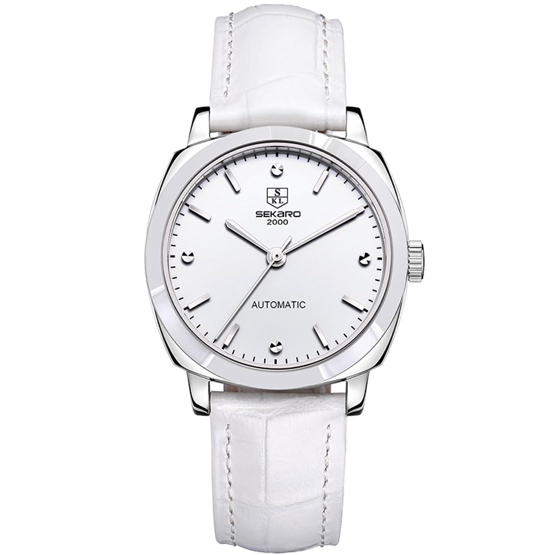 Automatische mechanische Uhren- Mode Damen Armbanduhr wasserdicht- einfach und lÄssig Uhren-B
