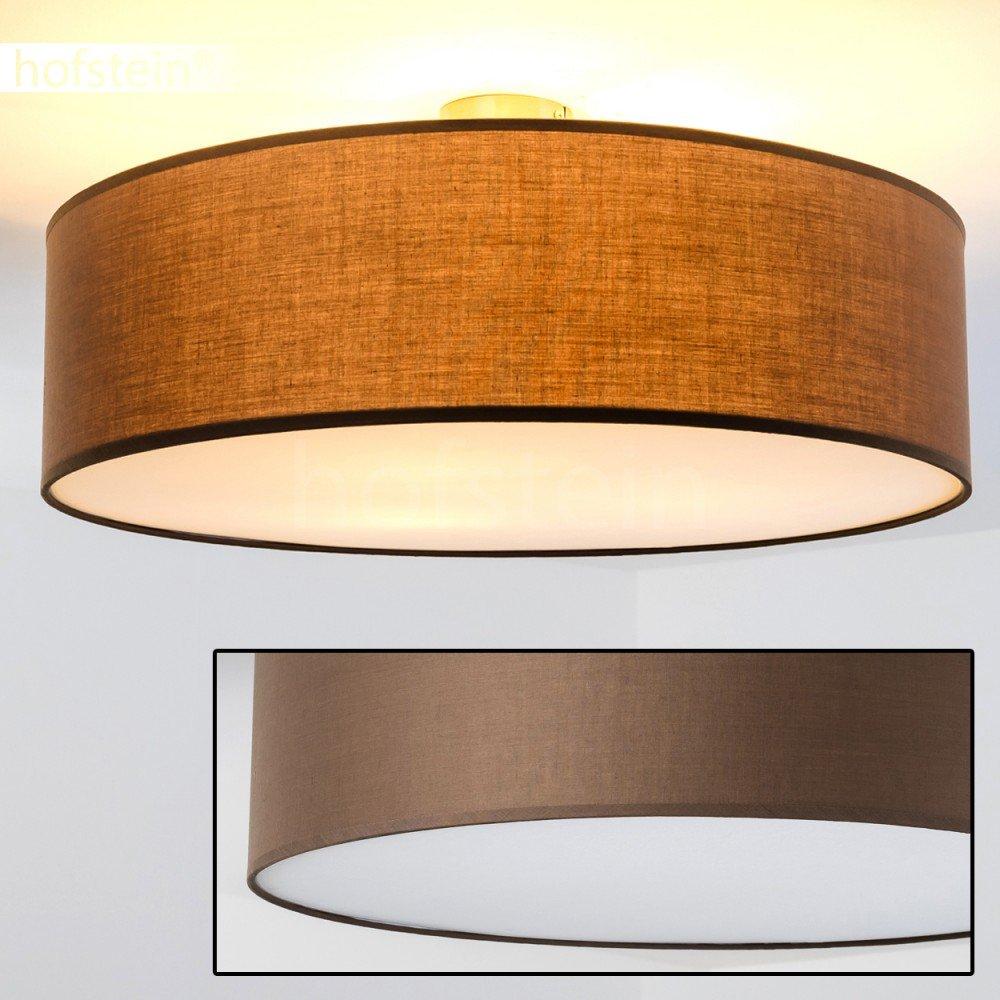 Deckenlampe Mit Stoffschirm Farbe Braun Modell