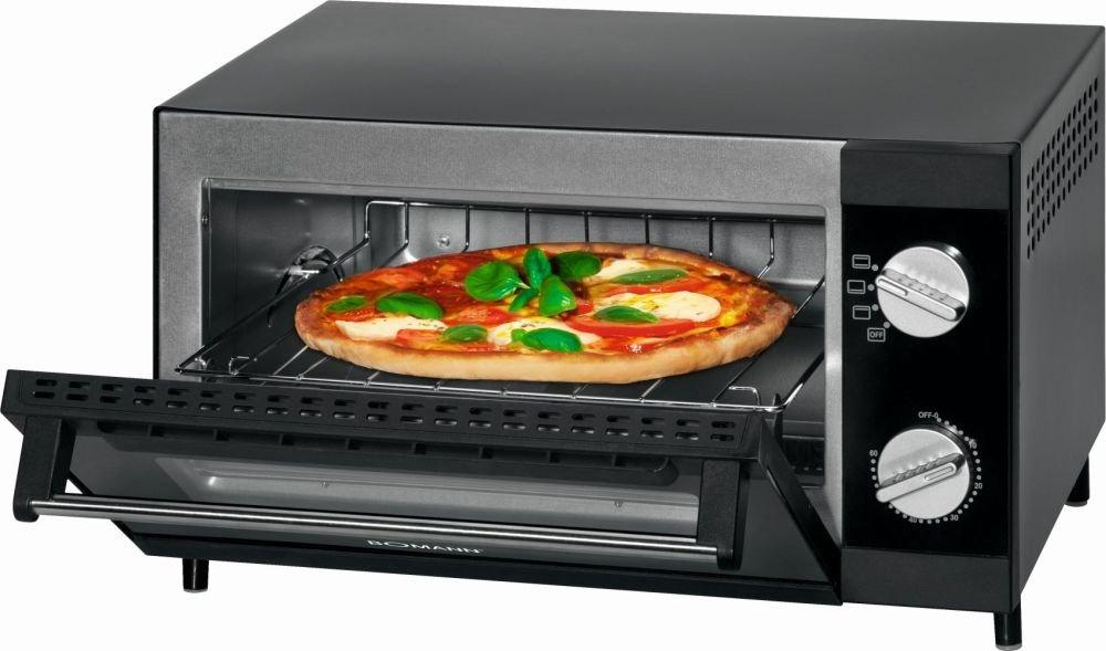 Mini four avec grille de funktionund de Voûte et de la chaleur Mini Four Four multifonctions à pizza four 12L (Puissance de 1000W + Plaque de cuisson, grille et tiroir ramasse-miettes) Bomann