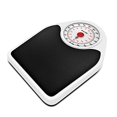 Salter Doctor Style Mechanical Bathroom Scales, White and Black