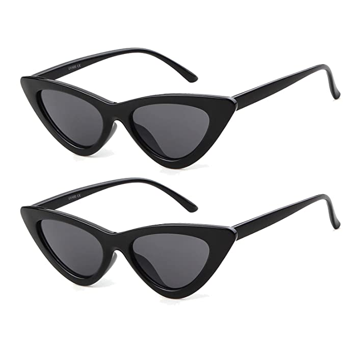 8e901c6a08 ADEWU Cateye Sunglasses Clout Goggles Kurt Cobain Outdoor Glasses for Girls  Women  Amazon.co.uk  Clothing