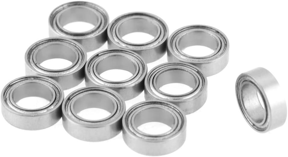Rodamientos de bolas de acero inoxidable - Medidas 5 x 8 x 2,5 mm - Modelo n. MR85ZZ 440C - Cantidad 10 unidades