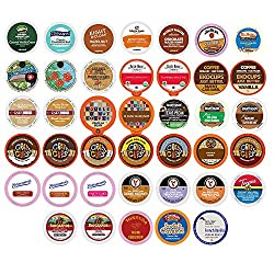 Flavored Coffee Single Serve Cups For Keurig K cup Brewers Variety Pack Sampler, 40 count made by Custom Variety Pack