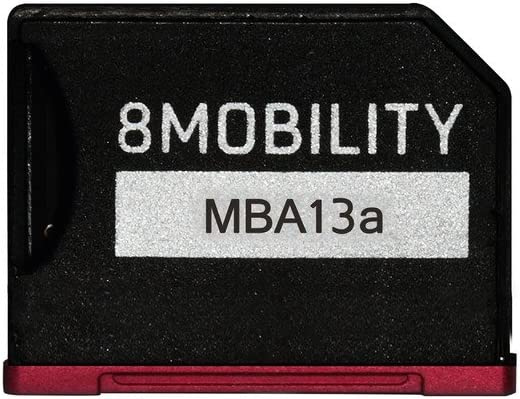 8MOBILITY iSlice Aluminum MicroSD Storage Adapter for MacBook Air 13'' (Late 2010 to Early 2015) - Red
