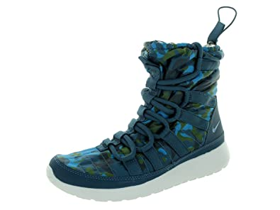 nike womens roshe run hi sneaker boot print trainers warehouse